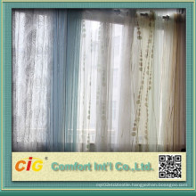 Flocking Organza Curtain Fabric for Home