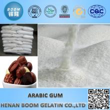 Goma arábiga como agente adhesivo