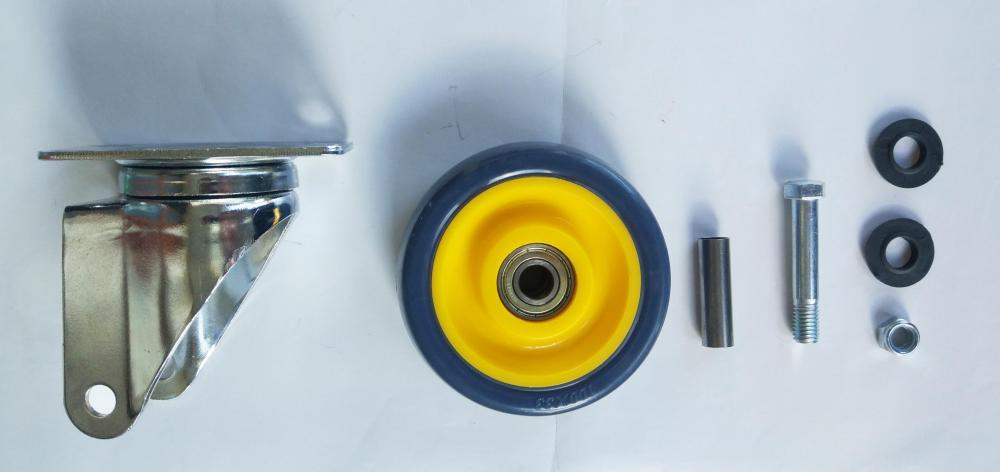 Parts Of 4 Pu Swivel Caster Wheel