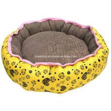 Warm Comfortable Coral Fleece Printed Cats Pet Bed