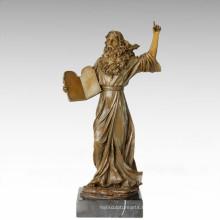 Figure classique Statue Physicien Galileo Bronze Sculpture TPE-366