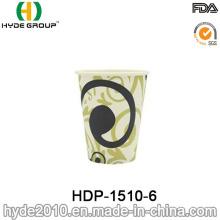 Taza de papel de café desechable de una sola pared de 12 oz (HDP-1510-6)