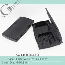 Retrô e elegante retangular compacto pó caso com espelho AG-LTFH-2167-8, embalagens de cosméticos do AGPM, cores/logotipo personalizado
