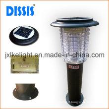 Armadilha elétrica do mosquito solar exterior de aço inoxidável 2W