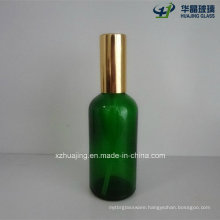 100ml Green Essential Oil Glass Bottles with Spray Pump