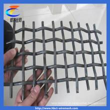 Rede de fio quadrada malha de arame crimpado