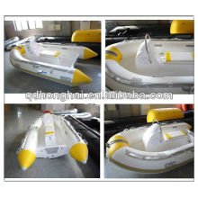 3 m fiber glass floor pvc material boat with console rib boat
