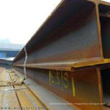 Acier structurel H Beam JIS G 3101 Ss400