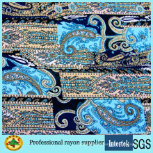 Custom Printed Women Dress Spun Rayon Fabric