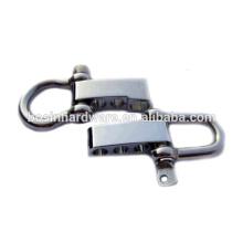 Moda de alta qualidade em aço inoxidável ajustável Shackle Buckle