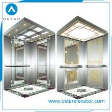 Gloden Mirror Etching Elevador Cabine para o Passageiro Lift (OS41)
