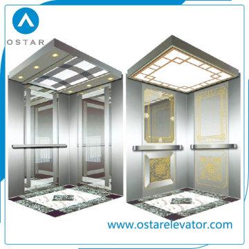 Cabine d'ascenseur de gravure miroir Gloden pour ascenseur de passagers (OS41)