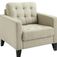 El lino mira la tela de poliester para el sofá con el respaldo de T / C