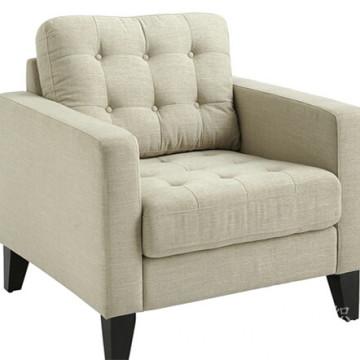Tissu de polyester de regards de toile pour le sofa avec le support de T / C