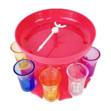 wholesale party bar drink plastic round liquids shot dispenser 8 shot glass dispenser and holder
