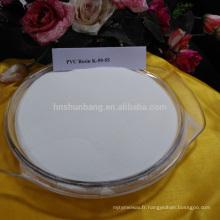 Matériel chimique en plastique pvc résine taiwan