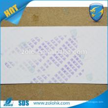 New Water Sensitive Paper Eggshell Material Double anti fake material printable