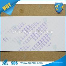 Novo material sensível à água Material da casca de ovo Material anti-falsificação duplo material impresso