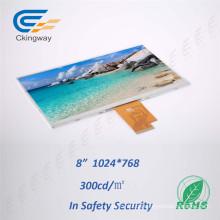 "8"" Resolution 1024 (RGB) X768 Lvds Interface TFT LCD Display"