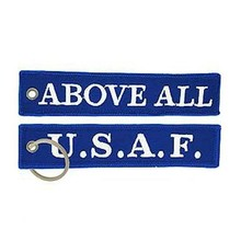 Personalize Fabric Embroidered Military Key Rings