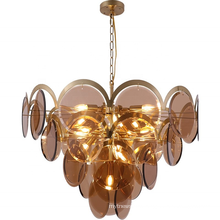 Nordic Design Luxury gold color led pendant lamp glass pendant lamp for hotel home