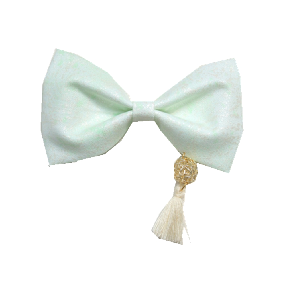 ribbon bow with tassel