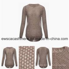 Suéter de la mezcla de la cachemira del grado superior de la primavera de las mujeres con mirada atractiva