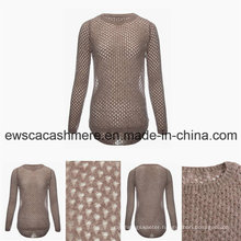 Women′s Spring Top Grade Cashmere Blend Sweater with Sexy Look