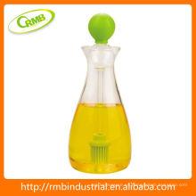 Botella de plástico de aceite