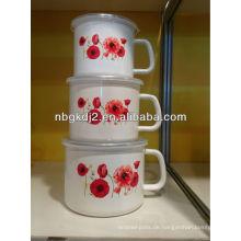 Emaille-Milchkännchen mit PP-Deckel