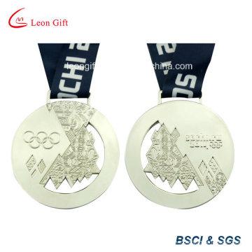 Medallón de deporte personalizada medalla de plata