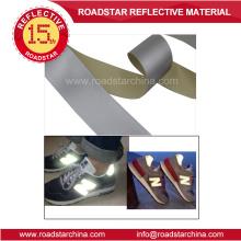 Moda material alta prata refletivo PVC espuma de couro