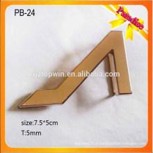 PB24 Customized 5cm preto padrão de liga de metal homens pino fivela de cinto de couro