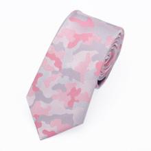 Günstige Großhandel Polyester Woven Camouflage Pink Damen Krawatten