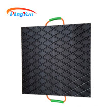 HDPE temporary road mats for transmission project