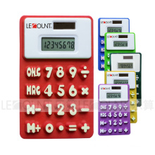 13cm 8 Digits Dual Power Silicon Calculator with Megnet (LC511A)