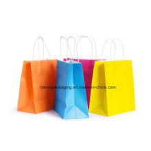 Бумажный пакет с ручкой и сумкой для покупок