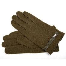 Herrenmode Wolle Nylon gestrickte Winter warme Kleid Handschuhe (YKY5435B-2)