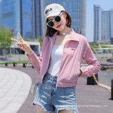 Custom Sunscreen Clothing Women Breathable Ultra-Thin Short Outdoor Skin Clothing