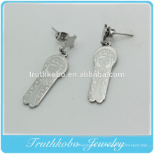 De calidad superior Nueva Madre Serena accesorios de cristianismo religioso joyería de acero inoxidable Virgen María Colgante pendientes para las mujeres