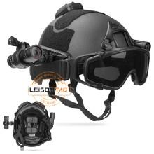 NIJ IIIA Accessory Rail Connector Bulletproof Helmet, FAST Ballistic Helmet Set for tactical military security