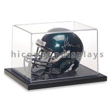 Novo Table Top Ciclismo Loja de vendas de loja para capacete, Capacete de futebol Display Case Acrílico