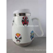 producto de moda por mayor de alibaba china doble pared acero inoxidable mágica taza de cerámica