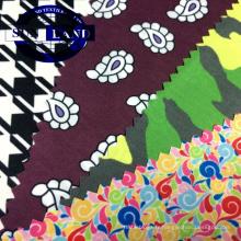 tissu interlock pour veste de plein air 100 polyester super léger imprimé