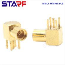 STA 90degree Right angle MMCX Female Through Hole PCB Mount connector