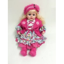 "20 ""Rose Red Clothes Vinyl Doll"