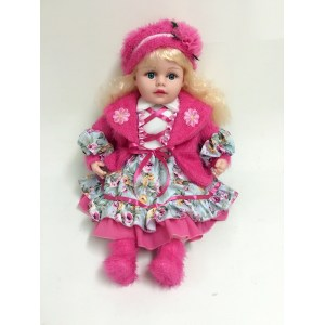 "20"" Rose Red Clothes Vinyl Doll"