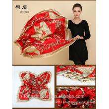 SA429 Seidenkleid Logo Druck Seidenschal 100% Seide Hijab Schal und Scarves Supplier Alibaba China