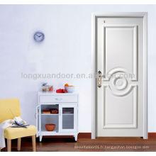 Porte de chambre blanche, porte en bois de qualité avec HDF et Natural Venner