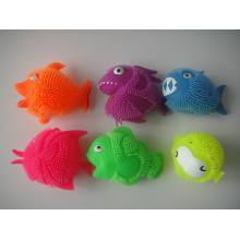 Neon Color Puffer Fishes 6 styles Asst